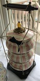 MacKenzie Childs Bathing Hut enamelware Tiffan