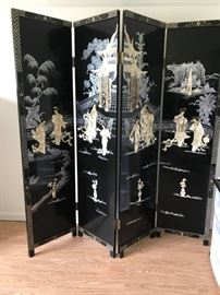 BEAUTIFUL Oriental 4 Panel Screen/ Room Divider