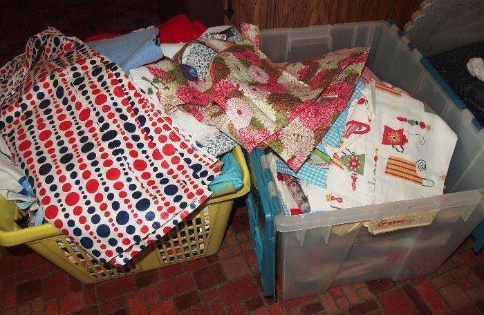 2 full bins of vintage aprons!