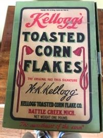Reproduction Kellogg's Corn Flake Box.