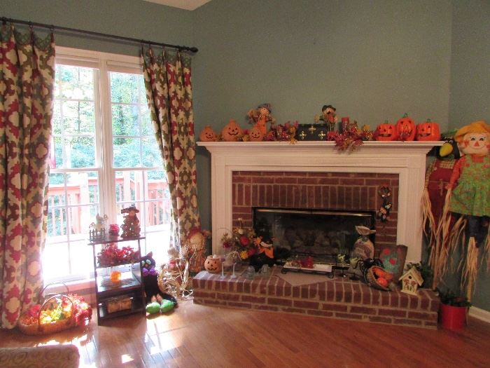We have some amazing fall decorations...don't they look inviting!!! I can feel the cool weather coming just looking at these decorations.