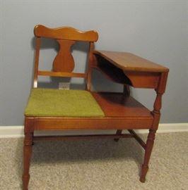 Vintage gossip bench/telephone table