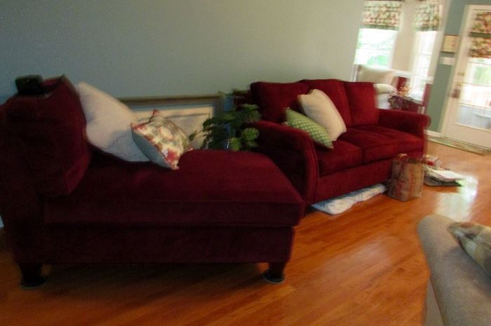 Lazboy sofa & loveseat, side view