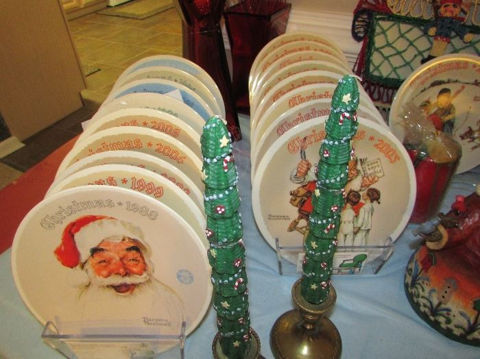 Norman Rockwell Christmas plate collection