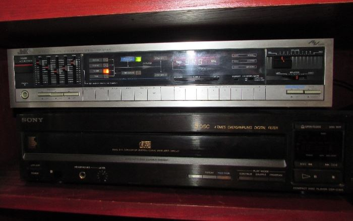 JVC Digital Synthesizer Stereo Receiver #RX220, also available Sony Compact Disc- 5 disc