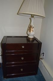 Night Stand, Vintage Lamps