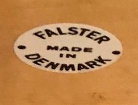 Label on mid century desk