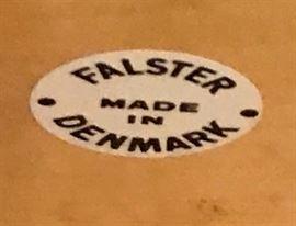 Label on mid century desk