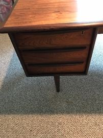 Close up of mid century desk