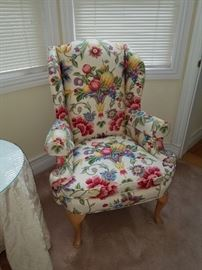 This is so beautiful...Wingback with Floral Design.