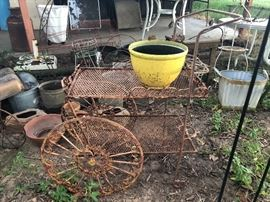 Tea Cart ready for the garden!