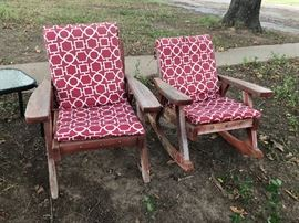Redwood lawn chairs