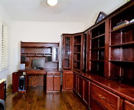 Beautiful Office Suite of Furniture. It comes apart in sections.