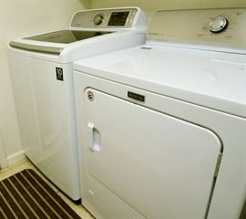 Washer and Dryer. Maytag Gas dryer only 3 months old.                                                                                               Samsung Clothes Washer 4.5 cu. ft. Top Load Washer with VRT Model:  WA45H7000AW/A2                                         Maytag Clothes Dryer (Gas) 7.0 CU. FT. LARGE CAPACITY DRYER WITH WRINKLE CONTROL Model:  MGDC215EW2