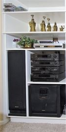 Sony Stereo and Surround Sound System TA-E741 - Digital Home Theater Dolby Pro Logic AV Control Pre Amplifier ST-JX741 - FM/AM Stereo Tuner TC-WR741 - Double Cassette Deck CDP-C741 - 5-Disc CD player SEN-R6400 - Super Subwoofer SS-U641AV - Pair of 120W Speakers SS-CN64 - Center Surround Speaker SS-U64 - Pair of 50W Surround Speakers