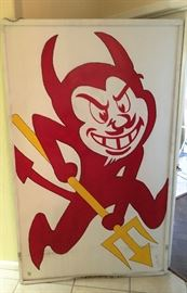 Bigger than life size Sun Devil Art. Great for a man cave!