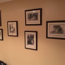 Vintage Black and white prints