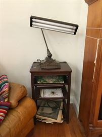 FLEXCO LAMP, SMALL SIDE TABLE