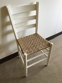 White Chair with Cane Seat https://ctbids.com/#!/description/share/38006