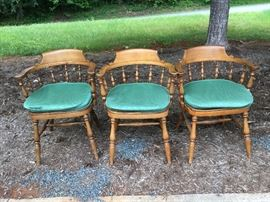 3 Wood Chairs with Cushions      https://ctbids.com/#!/description/share/38020