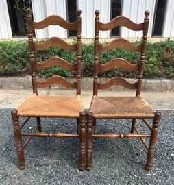 2 Wood Chairs with Cane Seats https://ctbids.com/#!/description/share/38025