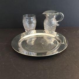 Pewter Plate & Sugar/Cream Set  https://ctbids.com/#!/description/share/38063