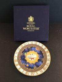Royal Worcester Millennium Plate https://ctbids.com/#!/description/share/38066