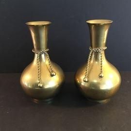 Brass Vases with Rope Design    https://ctbids.com/#!/description/share/38055