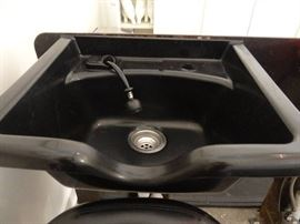 Black Plastic Shampoo Bowl with Faucet