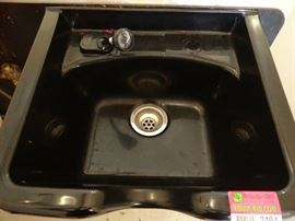 Black Plastic Shampoo Bowl with Faucet5