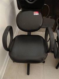 Black Salon Chair for Shampooing Hair