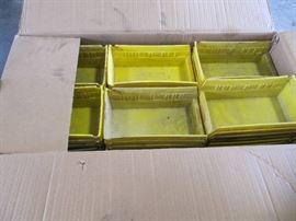 Large Lot of 78 Yellow Plastic Parts Containers 10 ...