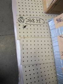 Large Pallet Lot of 36 Sheets of PegBoard 36...