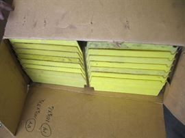 Large Lot of 84 Yellow Parts Containers 10 12 ...