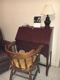 Small antique secretary desk.