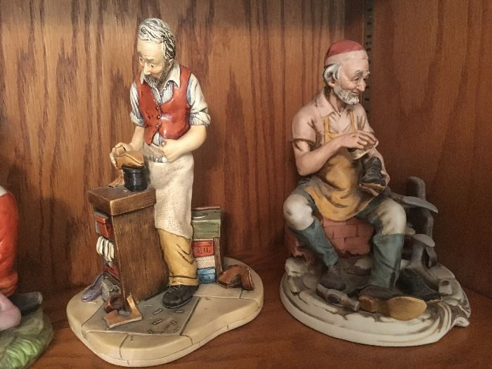 """Large collection of """"cobbler themed"""" figurines."""