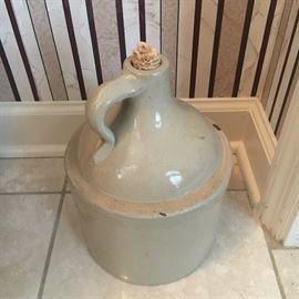 Antique stoneware jug.