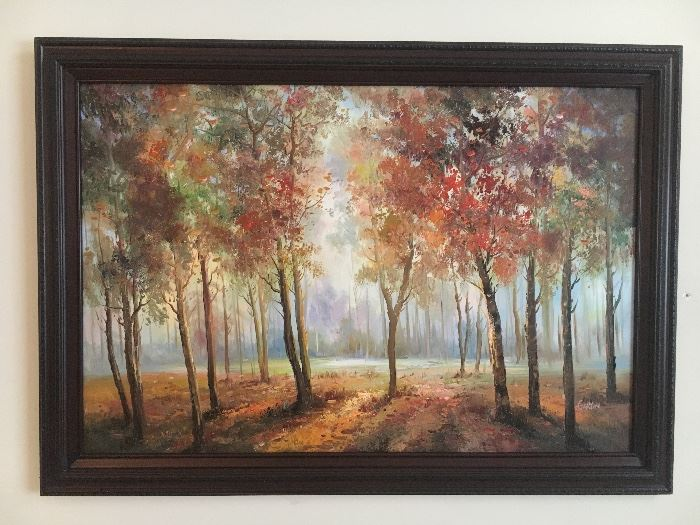 Original paintings and framed prints.
