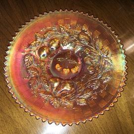 "Antique Norwood marigold ""three fruits"" plate."