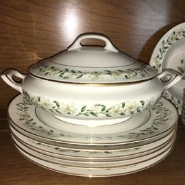 Vintage Princess China, Bridal Wreath pattern—service for 8 plus several completer pieces.
