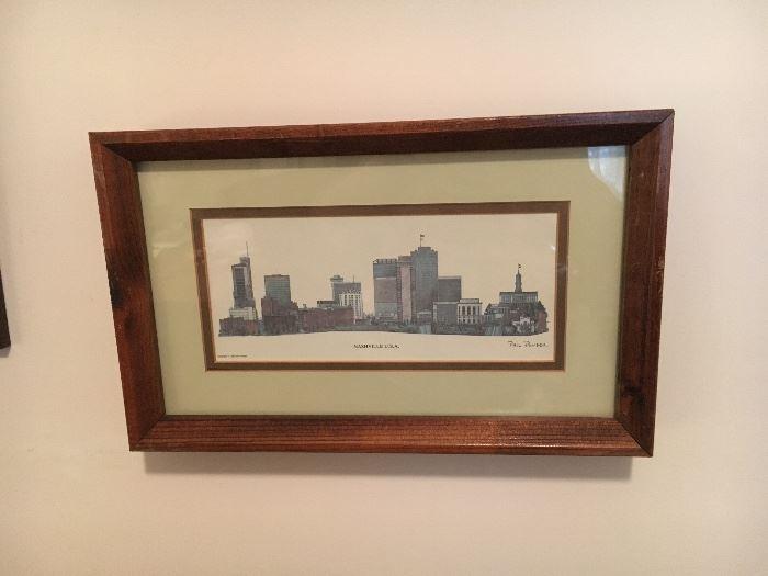 Several framed prints by Phil Ponder, some signed.