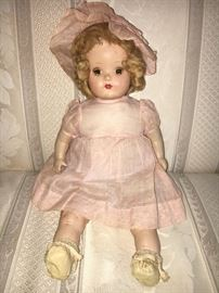 Beautiful 1930s Horsman composition doll (Rosebud) with original clothes and hair.