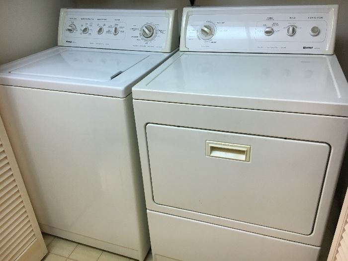 Older Kenmore washer and dryer.