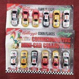 1990s Kellogg's Corn Flakes racing collection.