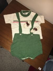 Vintage 1950s baby boy outfit.