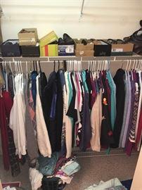 Women's clothing , mostly size Medium; shoes size 7M.