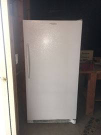 2007 Electrolux upright freezer.