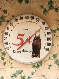 Ohio Jumbo Coca Cola thermometer, made in USA.