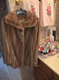 Vintage faux fur coat.