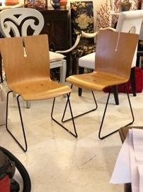 Bent wood Danish side chairs